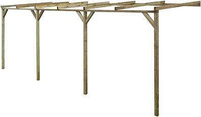 vidaXL Holz Terrassenüberdachung Überdachung Pergola Veranda Terrassendach Carport