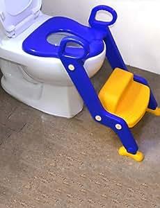 Ch&Ch enfants toilettes pot chaise de formation intensifier siège échelle, bleu plastique traditionnel
