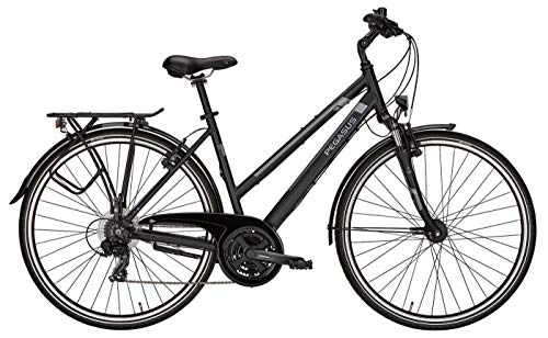 Damen Fahrrad 28 Zoll schwarz/grau - Pegasus Piazza Citybike - Shimano Kettenschaltung, STVZO Beleuchtung