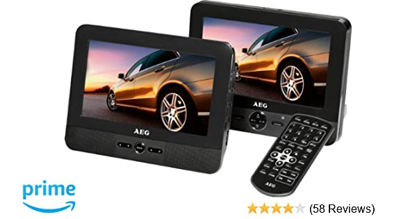 Aeg dvd 4551 lcd tragbarer dvd player 17 8 cm 7 zoll display dvd