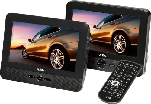 AEG DVD 4551 LCD Tragbarer DVD-Player (17,8 cm (7 Zoll) Display, DVD+RW, SD-Kartenslot) schwarz (Portable Lcd)