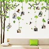 XXXL Wandaufkleber, Erinnerungsbaum in frischem Grün, romantischer Wandaufkleber für Wohnzimmer/Schlafzimmer, grün, Memory Tree