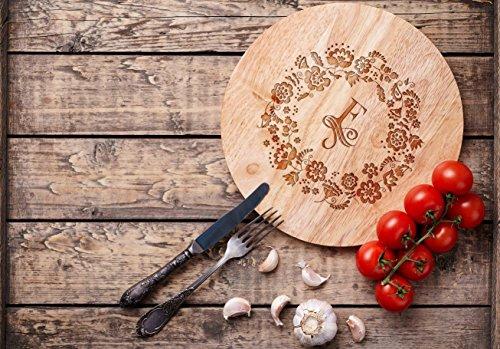 Custom Personalisierbares Schneidebrett Schneidebrett–rund Holz Board–Gravur–