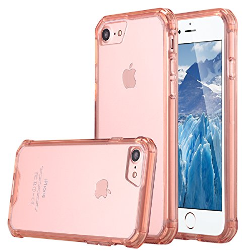 iPhone 7 cellulare, iPhone 7 Case, lontect cellulare custodia per Tablet Case Cover morbida flessibile estremamente sottile pelle graffi trasparente per prova per Apple iPhone 7 4.7 pollici rose gold