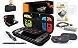 Switch Accessories, Orzly Ultimate Pack for Nintendo Switch  - BLACK Bild