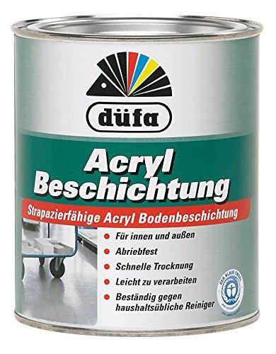 Düfa Acryl Strapazierfähige Acryl Bodenbeschidung Seidenglänzend 2,5 Liter , Farbe (RAL):RAL 7030 Steingrau