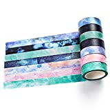 Set di 7 Washi tape, bricolage per fai da te, decorativo Craft, pacchi regalo, scrapbook