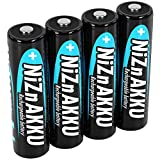 ANSMANN Mignon NiZn Akku AA 1,6V 2500mWh - Ni-Zn Accu AA wiederaufladbar - Kein Memory Effekt Akkus - wiederaufladbare Batterien AA ideal für Fernbedienung Taschenlampe Spielzeug - 4 Akku Batterien