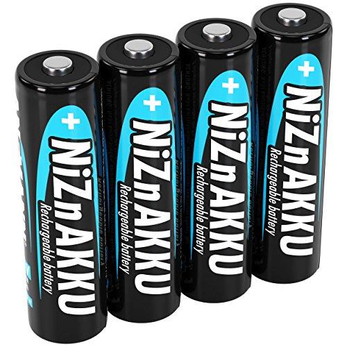 ANSMANN Nickel-Zink Akku AA 1,6V 2500mWh (1600mAh) Mignon NiZn/Ni-Zn Accu AA wiederaufladbare Batterien AA - Ersatz für 1,5V Einwegbatterien (4 Stück)
