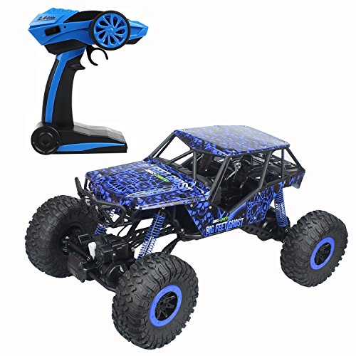 CR-110-Scale-Oversize-24Ghz-RC-Rock-Crawler-Monster-Vehicle-Truck-4WD-Radio-Control-Buggy-Hobby-Car-RTR-with-LED-LightsRed