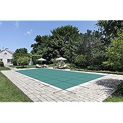 """Wasser Warden """"hergestellt zum letzten"""" Sicherheit Pool Cover für 18'x 40' Solid Grün, mit Center Ablauf Panel"""
