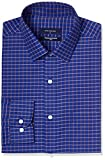 Peter England Men's Formal Shirt (8907696024681_PSF417002104_44_Dark Khaki with Blue)