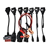 Wandeli 8 Auto Kabel OBD Kit für Delphi Autocom VCI TCS OBD2, Set OBD Diagnose Adapter Kabel Set für Cars Delphi Autocom CDP Test