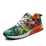 Air Laufschuhe Damen und Herren Sneaker mit Sportschuhe Laufschuhe, 41 EU, Orange