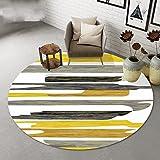 Teppiche Runder nordischem Streifen Stilvoller runder Couchtisch aus Wohnzimmer Großer (größe : Diameter100cm)