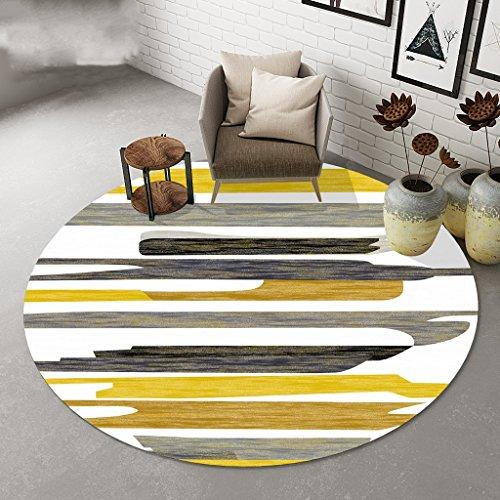 Teppiche Runder nordischem Streifen Stilvoller runder Couchtisch aus Wohnzimmer Großer (größe : Diameter 160cm) (Couchtisch Runde Große)