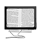 Alcoa Prime Full Page 3x Magnifier Magnifying Glass Book Reading Aid Lens With LED Light