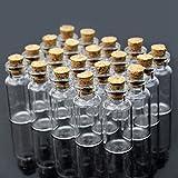 LEXPON Mini Löschen Wishing Nachricht Glasflaschen Phiolen mit Korken 10x18mm 50pcs