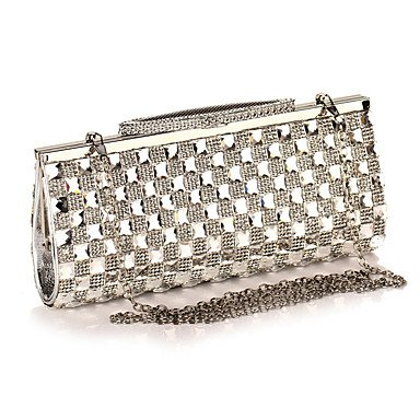 pwne L. In West Woman Fashion Luxus High-Grade Diamdons Abend Tasche Silver