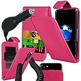 Blackview E7S - Fall Super-Essentials Pack Clamp Frühlings-Art PU-Leder-Mappe + auto Charger - Pink