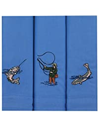 Embroidered Fishing Handkerchiefs