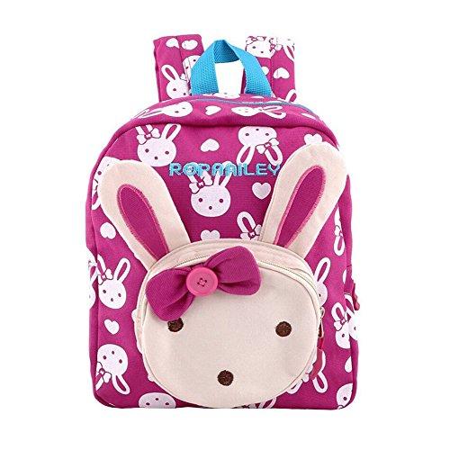 Mochila Infantil / PequeñA Bebes Guarderia Bolsa Lindo Animales Bambino mochila para pequeño niñas,(Rosa Roja)