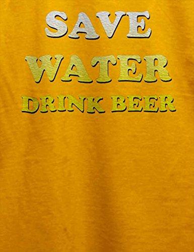 Save Water Drink Beer T-Shirt Gelb