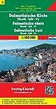 Freytag Berndt Autokarten, Blatt 2, Dalmatinische Küste - ?ibenik - Split - Vis - Maßstab 1:100 000 -