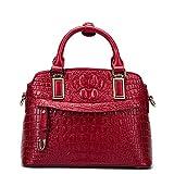 Frauen Krokodil Muster Knödel Tasche Leder Shell Typ Handtasche Business Schultertasche Top Griff Umhängetasche