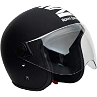 Royal Enfield Open Face with Visor MLG Matt Black & White (XL)60 CM(RRGHEL000039)
