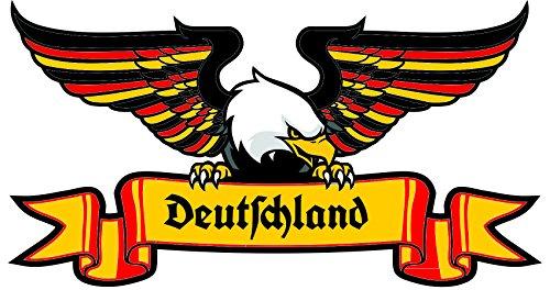 Autoaufkleber Deutschland Adler in Landesfarben mit altdeutscher Schrift / deutsche Fraktur Sticker...