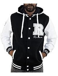Redrum Kapuzenjacke Zipper Hoodie Hoody Jacke Baumwolle schwarz weiss Modell College Jacket
