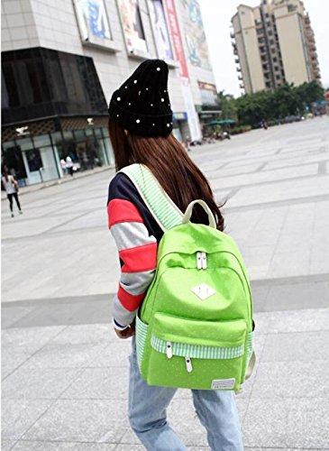 Studenti Coreani Borse Da Viaggio Per Il Tempo Libero Sport Da Viaggio Zaino Borsa Di Tela Verde
