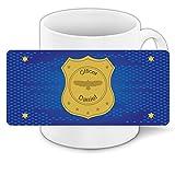 Tasse mit Namen Daniel und schönem Officer-Motiv für Jungs - Tasse für Kinder Keramiktasse