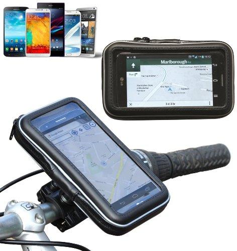 Navitech Wasserfeste Fahrrad und Motorrad Halterung Montierung und Case für das Sony Xperia M4 Aqua