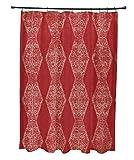 E von Design Pyramide Streifen Vorhang für die Dusche, Polyester, rot, Standard