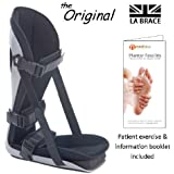 LA Brace® Plantar Fasciitis Night Splint (Medium UK 6-8) - Including Dorsiflexion Toe Wedge | Lycra Lined Foam Padded | Achilles Tendonitis , Plantar Fasciitis Overnight Treatment