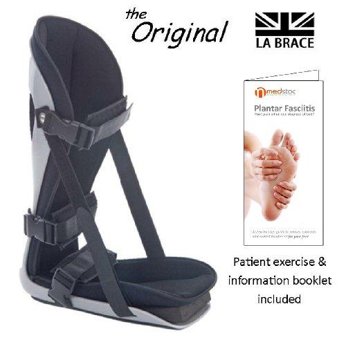 La Brace Plantarfasziitis Night Splint (Medium UK 6-8)-inkl. dorsalflexion Fuß Keil | Lycra gefüttert Schaumstoff gepolstert | Achilles Sehnenentzündung, Plantarfasziitis über Nacht Behandlung - Nacht Behandlung