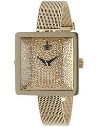 Vivienne Westwood Damen-Armbanduhr Lady Cube Analog Quarz VV053GDGD