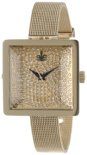 Vivienne Westwood Women's Quartz Watch with Gold Dial Analogue Display and Gold Stainless Steel Bracelet VV053GDGD