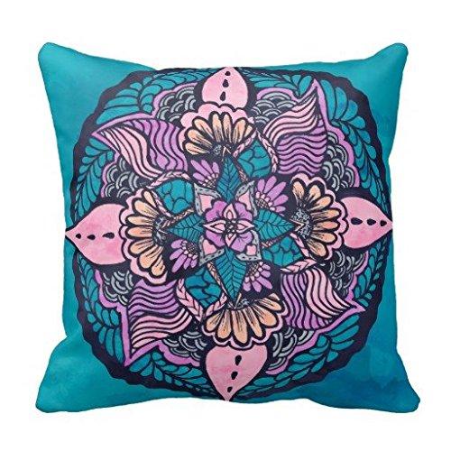 Boho Chic fuchsia Orchidee pink ikat Tribal Tapisserie Baumwolle & plyster Überwurf Kissen Fall/Kissenbezug, W-23, 18*18