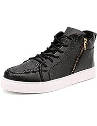 BUSL Zapatos de pareja unisex Zapatillas de deporte de tacón plano Zapatillas de deporte de skate Zapatos . black . 39