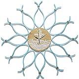 XP-wall clock Mittelmeer Wanduhr Nordic Uhr kreative Uhr Stumm einfache Wohnzimmer Esszimmer Wand Wand Dekoration Handwerk