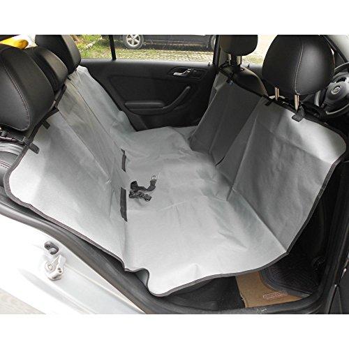 Lalawow Oxford-Faser Wasserdicht Autositzschoner Autositzdecke für Hunde Katzen Picknickdecke Campingdecke (Grau)