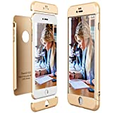 CE-Link für iPhone 6 Plus/iPhone 6S Plus Hülle Hardcase 3 in 1 Ultra Dünn 360 Full Body Schutz Schutzhülle Bumper Handyhülle - Gold