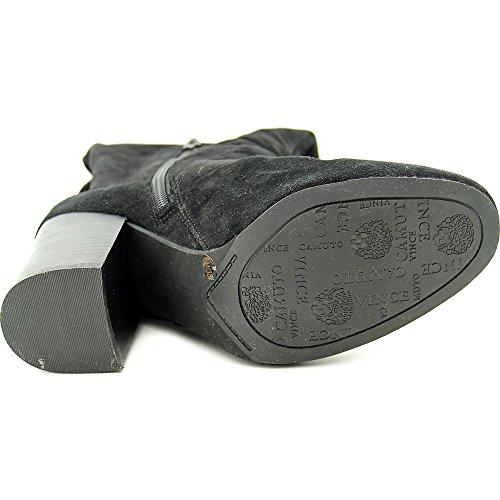 Vince Camuto Sashe Rund Wildleder Mode-Knie hoch Stiefel Black