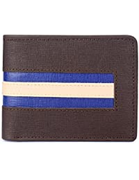 The Clownfish Auctor Men's Wallet Genuine Leather Wallets For Men With RFID Protection.(Umber Brown)