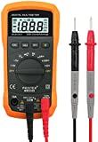 Pocket Digital Multimeter Auto Ranging Digital Multimeters Digital Multi Tester - AC DC Voltage DC Current Resistance Diodes Transistor Audible Continuity Tester with Backlit LCD