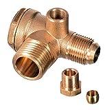 Válvula antirretorno 1/2 x 3/8 (20 mm x 16 mm) compresor de aire de latón válvula conector herramienta compresor de aire para conectar