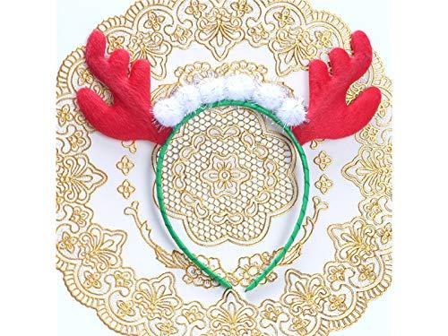 Xinjiener Geweih Weihnachten Haarband Stirnband Weihnachtsfeier Kostüm Zubehör für Kind (Multicolor) Außen Weihnachtsdeko